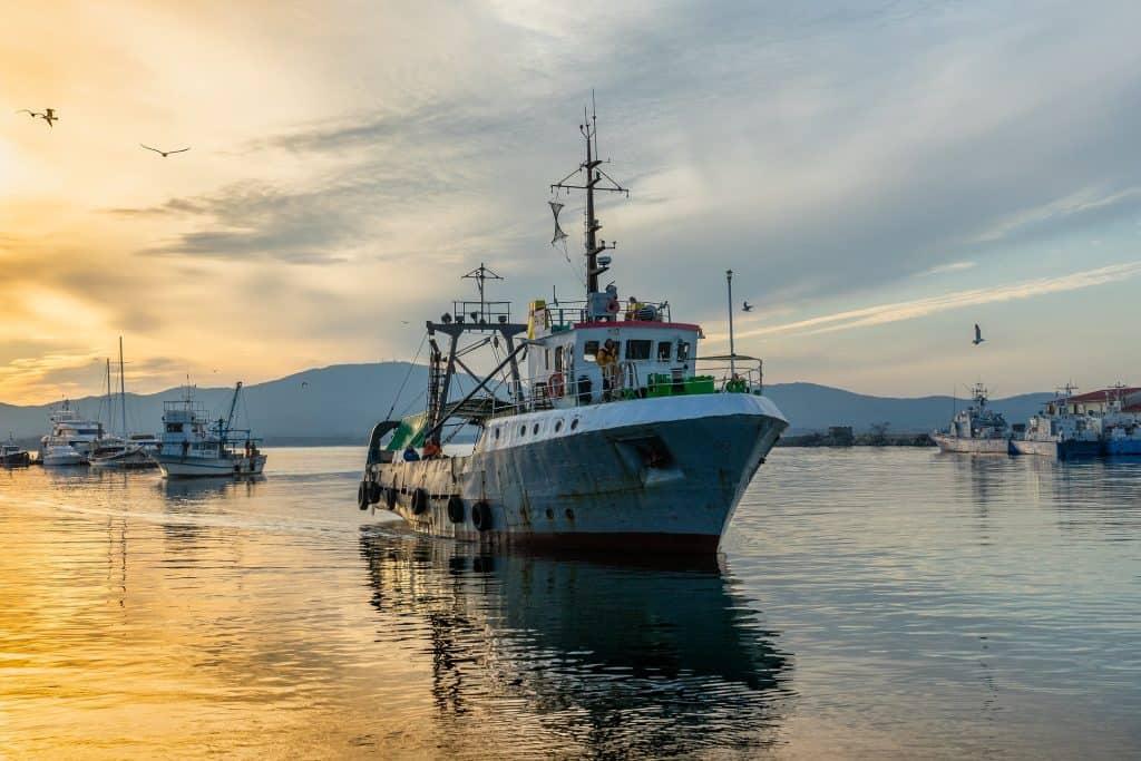 Fishing vessel on its way to catch swordfish.